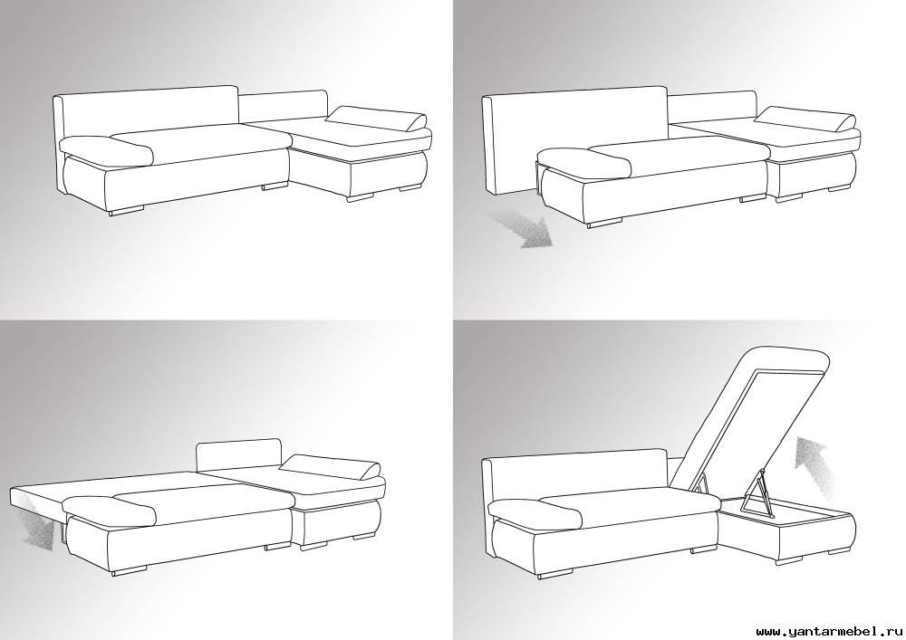 Много мебели схемы диванов монако